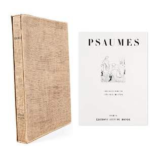 """Cecile Reims """"Psaumes"""" Engravings Portfolio"""