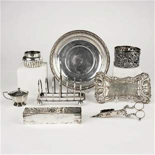 Grp: 8 European Silver Wares