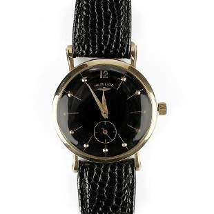 Hamilton 14K Gold Round Wristwatch
