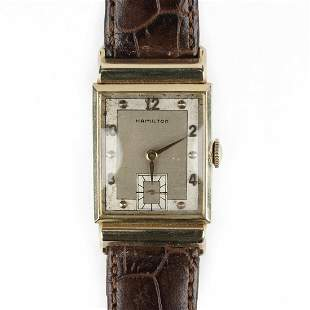 Hamilton 14K Gold Square Wristwatch
