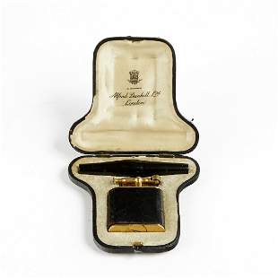 Dunhill Swing Arm Lighter w/ 9K Gold Cigarette Holder