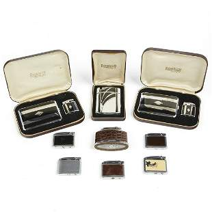 Grp: Ronson Lighters and Cigarette Cases Adonis Senator