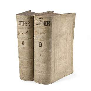 Pair of 17th c. German Martin Luther Books