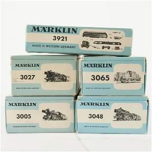 Grp: 5 Marklin Model Scale Train Engines