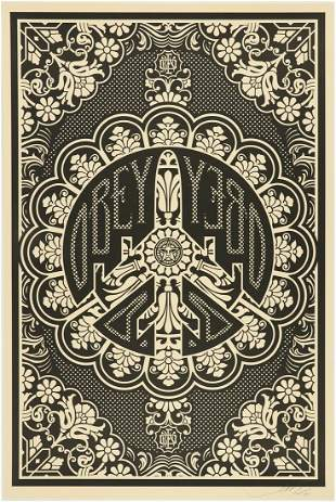 "Shepard Fairey Obey ""Peace Bomber"" Lithograph"