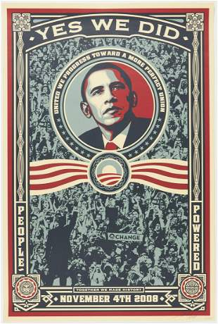 "Shepard Fairey Obey ""Obama Yes We Did"" Print"