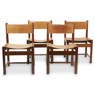 "Set of 4 Michel Arnoult ""Imbuia"" Chairs"