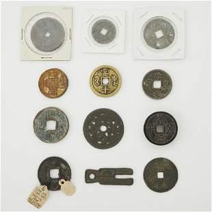 Grp: 12 Asian Coins & Amulets