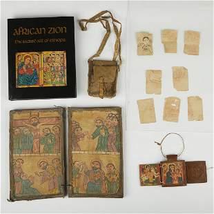 Grp: 2 Ethiopian Icons Coptic Christian
