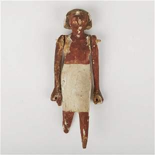 Antique Egyptian Wooden Figure
