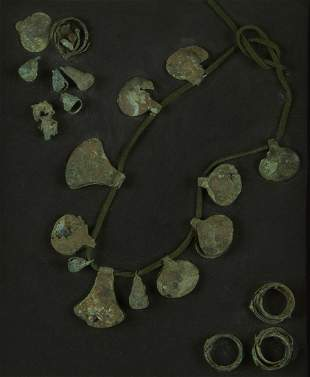 Pre-Columbian Copper Necklace Fragments