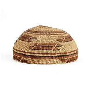Hupa Three-Color Woven Basket Hat