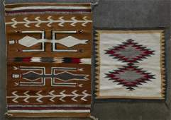 Grp: 2 Navajo Rugs Blanket Weavings - Yei