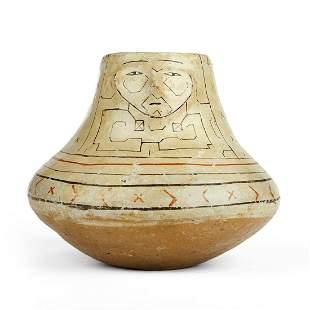 Antique Shipibo Peruvian Effigy Vase Oella