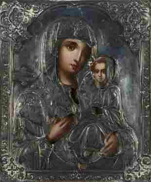 20th c. Russian Icon Madonna & Child