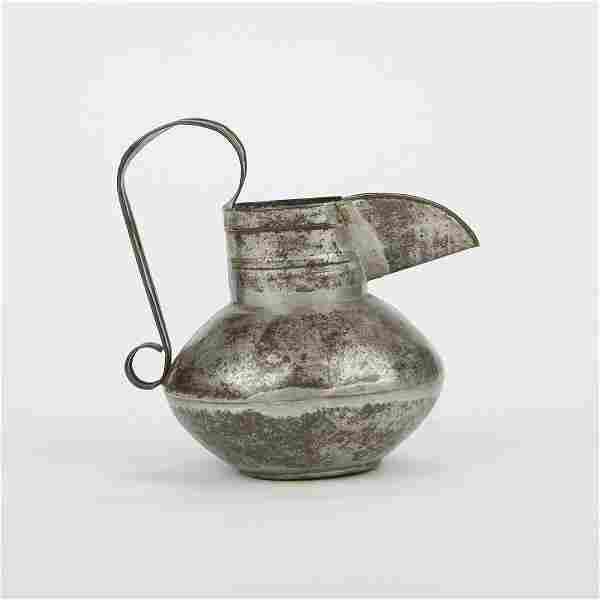 William Spratling 1940s Rare Tin Pitcher Taxco Sterling