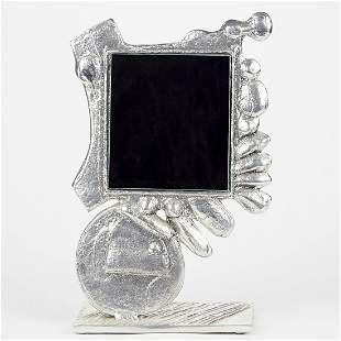 Donald Drumm Aluminum Sculpture Vanity Mirror