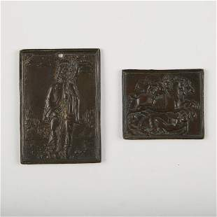 Pair of 17th c. European Bronze Plaques