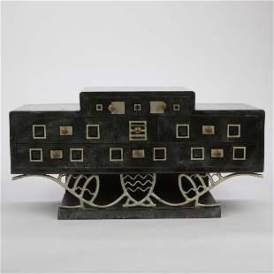 Art Deco Lacquerware Jewelry Chest
