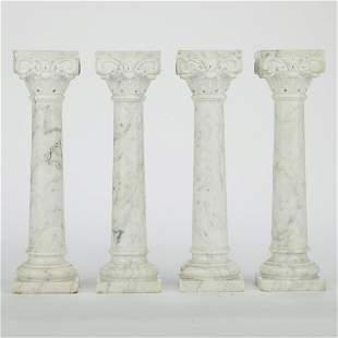 Set of 4 Marble Corinthian Columns