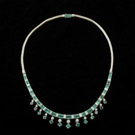 Women's Platinum 14K White Gold Emerald & Diamond