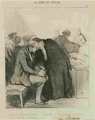 """Pair of Honore Daumier """"Les Gens de Justice"""""""
