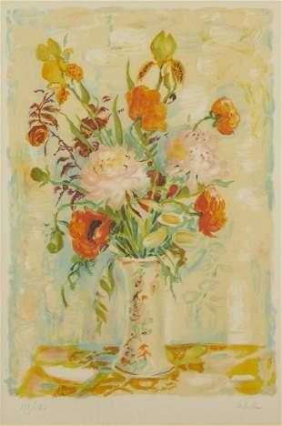 "Le Pho ""Bouquet of Flowers"" Lithograph"