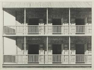 """Emilio Sanchez """"Casa de Playa"""" Lithograph"""