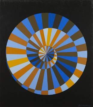 """Victor Vasarely """"Olympische Spiele"""" Op-Art Silkscreen"""