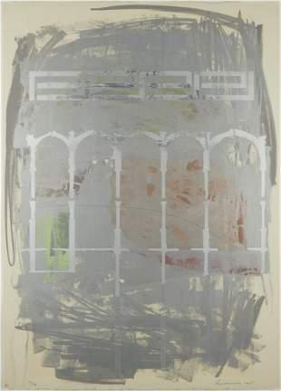 "Lee Bjorklund ""Site Drawn #15"" Lithograph 1978"