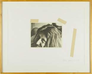 "Jerry Ott ""Self-Portrait"" Lithograph"