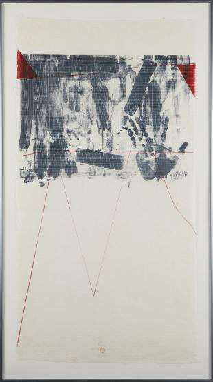 """Steve Sorman """"Span"""" Lithograph 1978"""