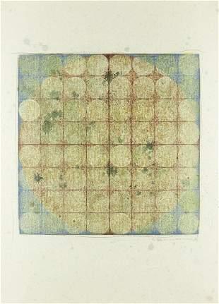 """Kwang Jean Park """"Yin & Yang 9812"""" Woodblock & Graphite"""