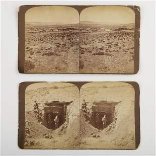 Grp: 2 19th c. Stereoviews of Rock Springs Wyoming Coal