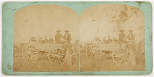 19th c. Stereoview of Omaha Native Americans