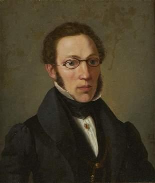 19th c. English School Portrait of Gentleman Painting