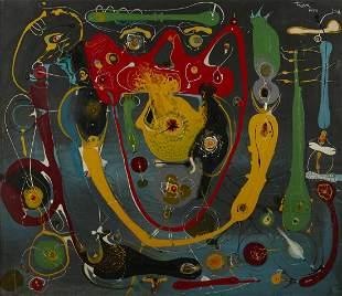 """Ernest Trova """"514 Untitled (G.A.)"""" Enamel on Wood"""