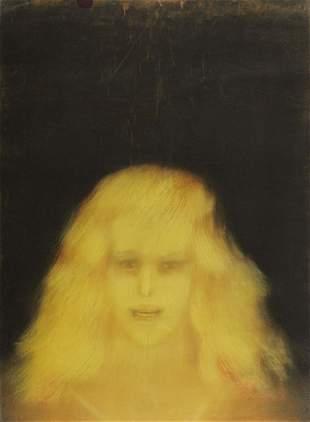 John Paul Jones Yellow Figure Pastel