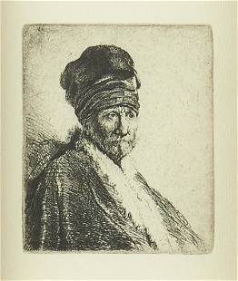 """After Rembrandt """"Bust of Man Wearing a High Cap"""""""