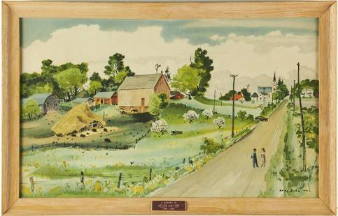 "Adolf Dehn ""Minnesota"" Lithograph Print"