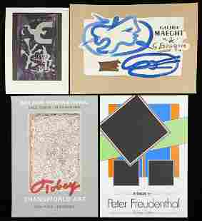 Grp: 7 Prints & Posters Mark Tobey, Braque, Chagall,