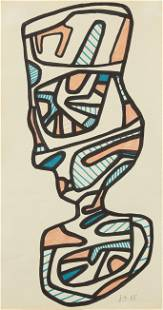 "Jean Dubuffet ""Le Verre d'Eau III"" Original Drawing"