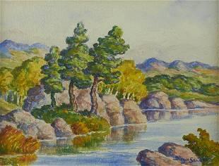 Birger Sandzen Watercolor Landscape