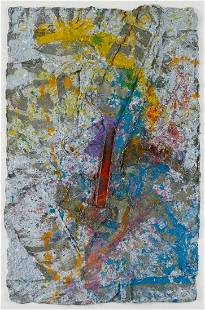 """Sam Gilliam """"Spear #5"""" Painting on Paper 1980"""