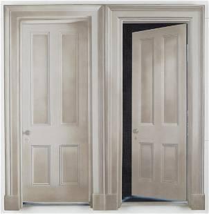 "Howard Kanowitz ""The Rooming House Doors"" Liquidex on"