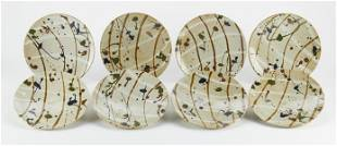 Set of 8 Wayne Branum Plates - Marked