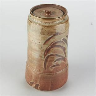 Wayne Branum Studio Ceramic Container w/ Lid -