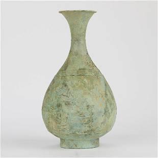 Large Korean Antique Bronze Vase