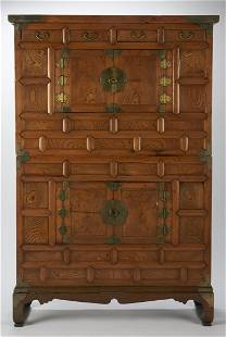 Korean Rosewood Chest on Chest