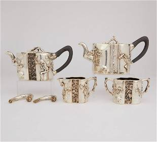 Chinese Export Silver Teapot & Coffee Set